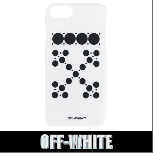 OFF-WHITE★DOTTED ARROWS  iPhone 7 ケース ホワイト