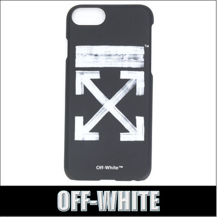 OFF-WHITE★BRUSHED ARROWS iPhone 7 ケース ブラック