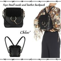 【関税送料込】チェーンがpoint★Chloe★Faya★leather backpack