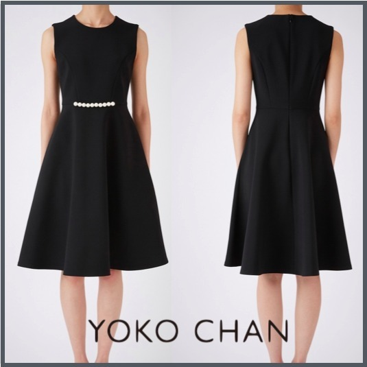 [すぐ届く]国内発☆YOKOCHAN Pearl Flared Dress