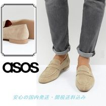 ASOS Loafers In Stone Faux Suede♪