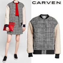 ☆CARVEN ☆Faux-shearling sleeves ボンバージャケット☆関税込