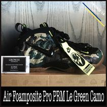 ★【NIKE】US9.5 27.5cm Air Foamposite Pro PRM Le Green Camo