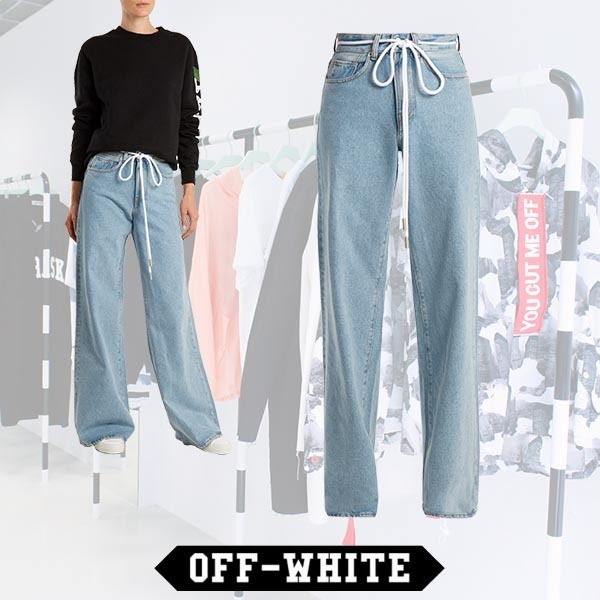 【RUNWAY】Off-White/ワイドレッグジーンズ