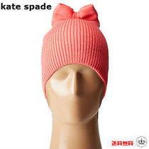 SALE【kate spade NY】リボン付き☆Solid Bow ニット帽/ピンク