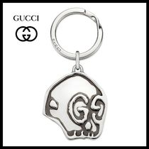17AW!関税送料無料★GUCCI★GucciGhost シルバーキーチェーン
