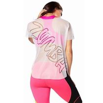 ☆ZUMBA・ズンバ☆Let It Move You Mesh Tee WH