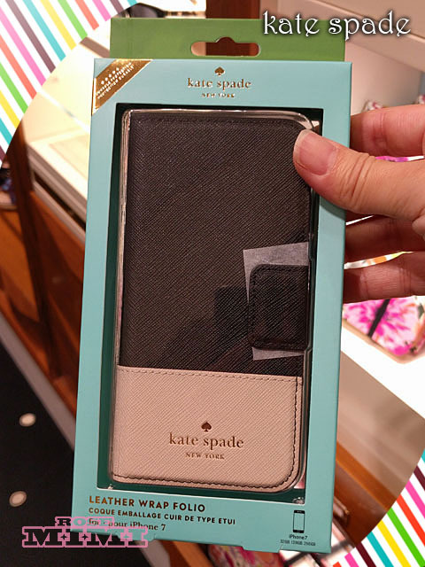 Kate spade leather wrap folio iphone 7 caseバイカラー