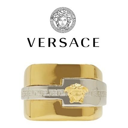 2017-18AW Versace Gold & Silver Medusa Ring 関税込