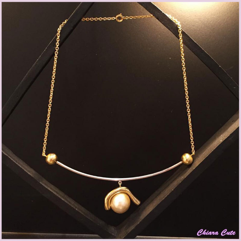 【17aw NEW】CELINE_women/DOTORGANICPEARL NECKLACE/ネックレス