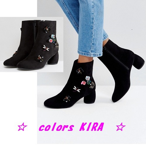 ASOS RAIN FOREST Embellished Boots♪