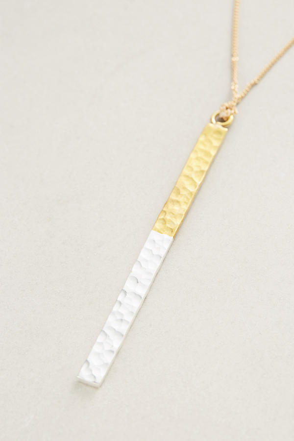 Anthropologie☆Matchstick Pendant Necklace