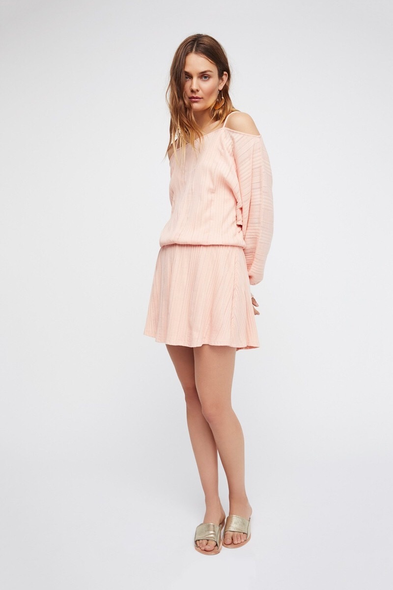 【Free People】大人気☆Soak Up The Sun Mini Dress ピーチ ◎