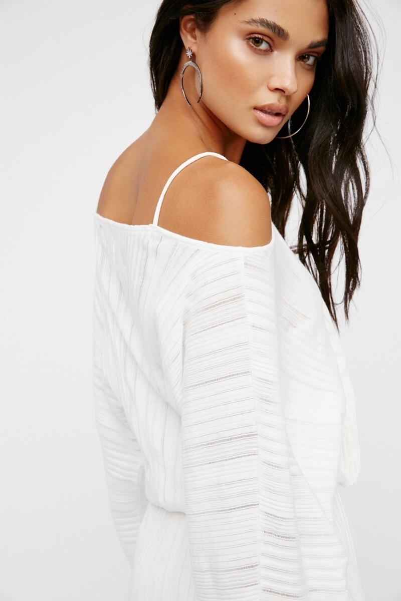 【Free People】人気!Soak Up The Sun Mini Dress アイボリー ◎