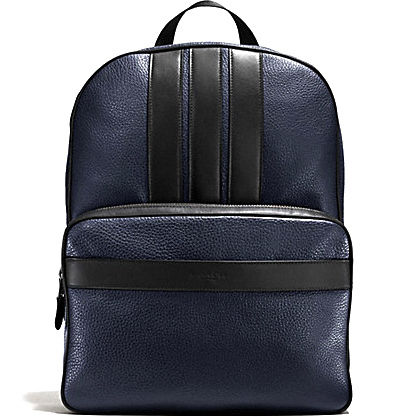 ヴァーシティのCOACH BOND BACKPACK IN PEBBLE LEATHER F56667