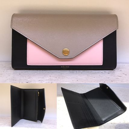 ★17/18AW★【CELINE】POCKET TRIFOLDED WALLET (Desert)