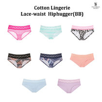 【即発!】*VS* Cotton Lingerie Lace waist Hiphugger (BB)
