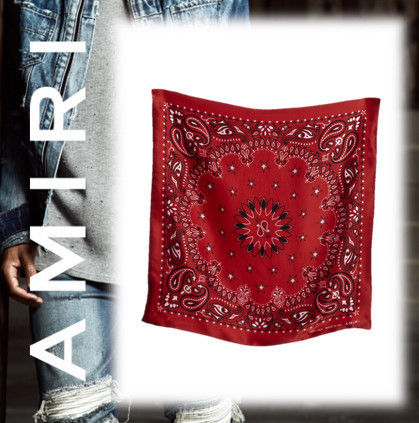 17AW★AMIRI★SILK BANDANA RED