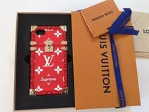 17Supreme x Louis Vuitton Eye-Trunk For iphone 7 M64499 赤
