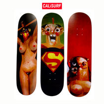 SUPREME X GEORGE CONDO SKATEBOARD DECK SET OF 3