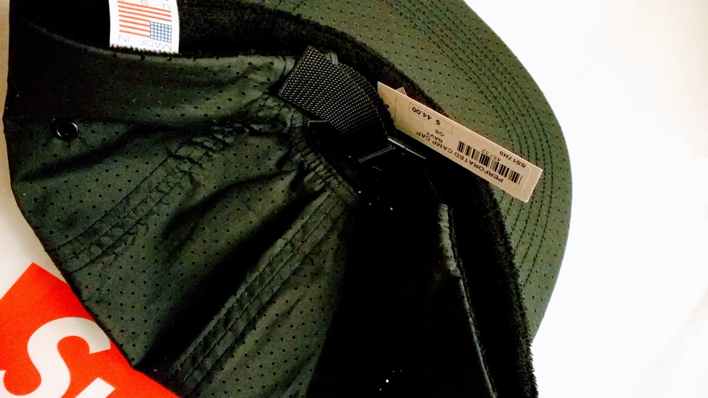 a02f4567a25 国内 17ss SUPREME Perforated Camp Cap navy シュプリーム -- www ...