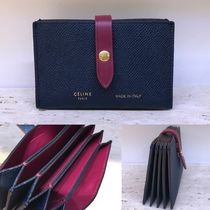 ★NEW★【CELINE】Accordeonカードケース(Steel Blue × Plum)