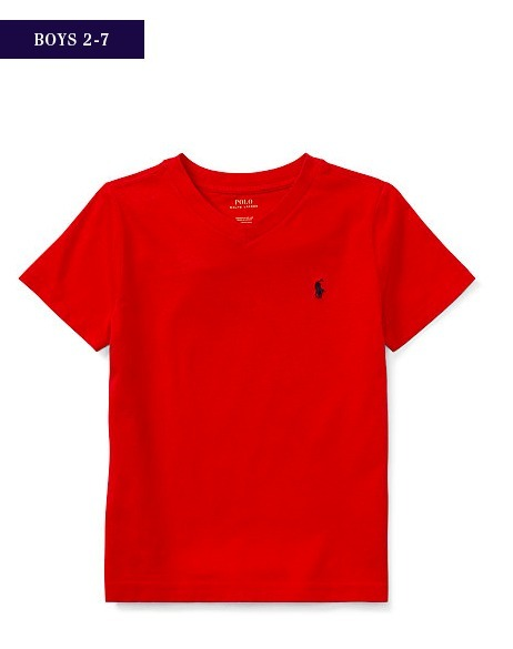 新作♪国内発送 5色 COTTON JERSEY V-NECK T-SHIRT boys 2~7