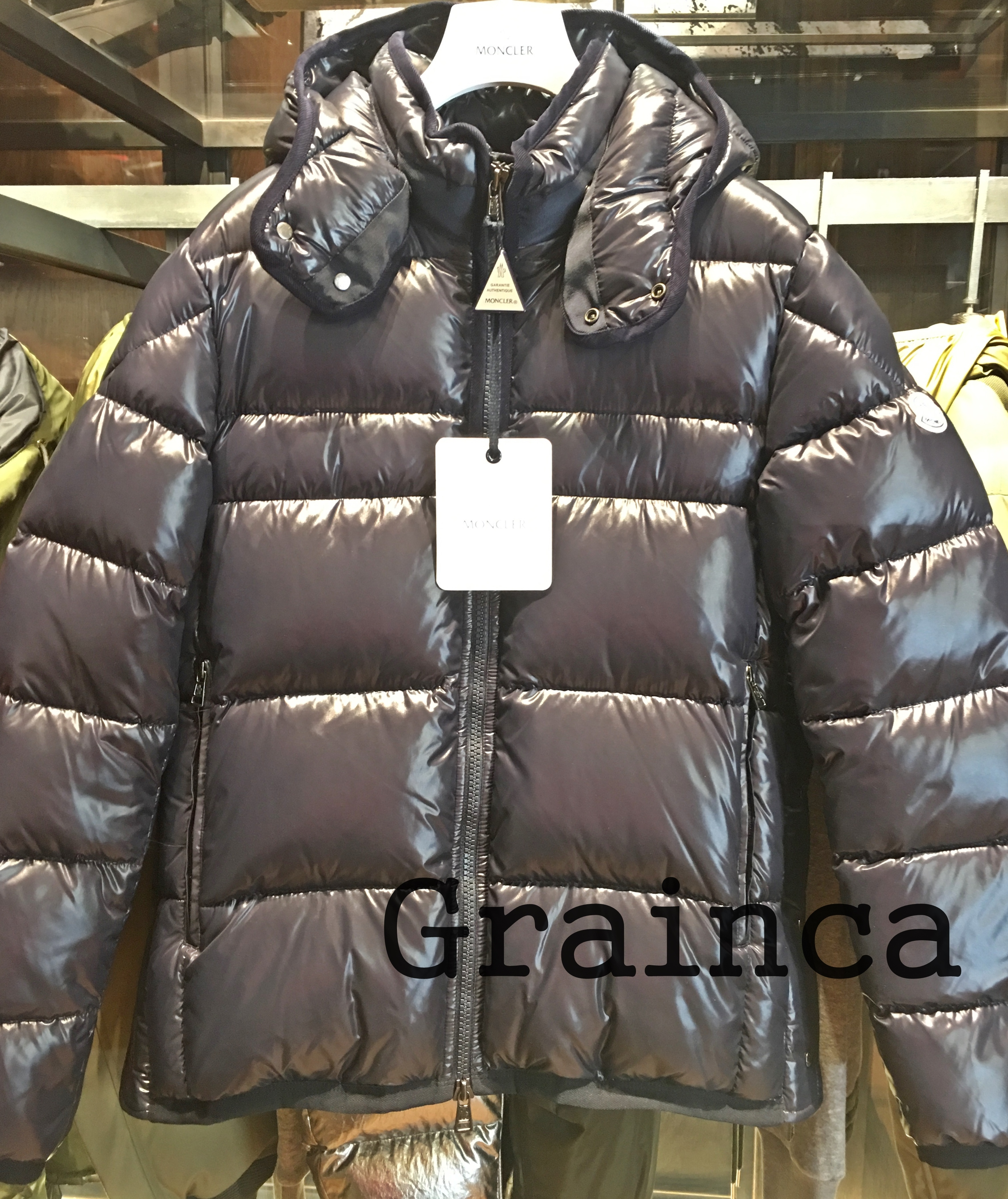 MONCLER★17/18AW シャイニーダウンHARRY★ネイビー・関税込み