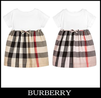 17-18AW 大人OK!【BURBERRY】3色展開 ツートンワンピース