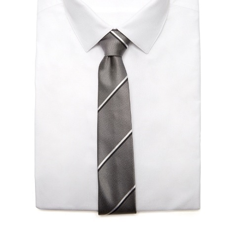 BURBERRY Stanfield striped silk tie 結婚式 ネクタイ