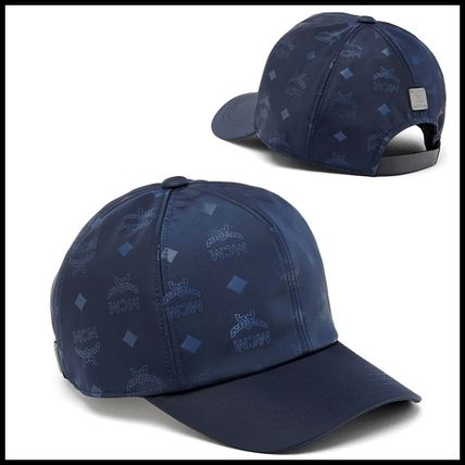 17AW新作【安心国内発送】MCM正規品◆ロゴナイロンキャップ*NAVY