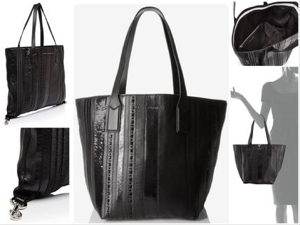 【Marc Jacobs】Wingman Stripe Shopping Tote〓ブラック