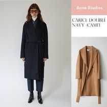 [Acne]Carice Double navy camel ベルト付ロングダブルコート2色