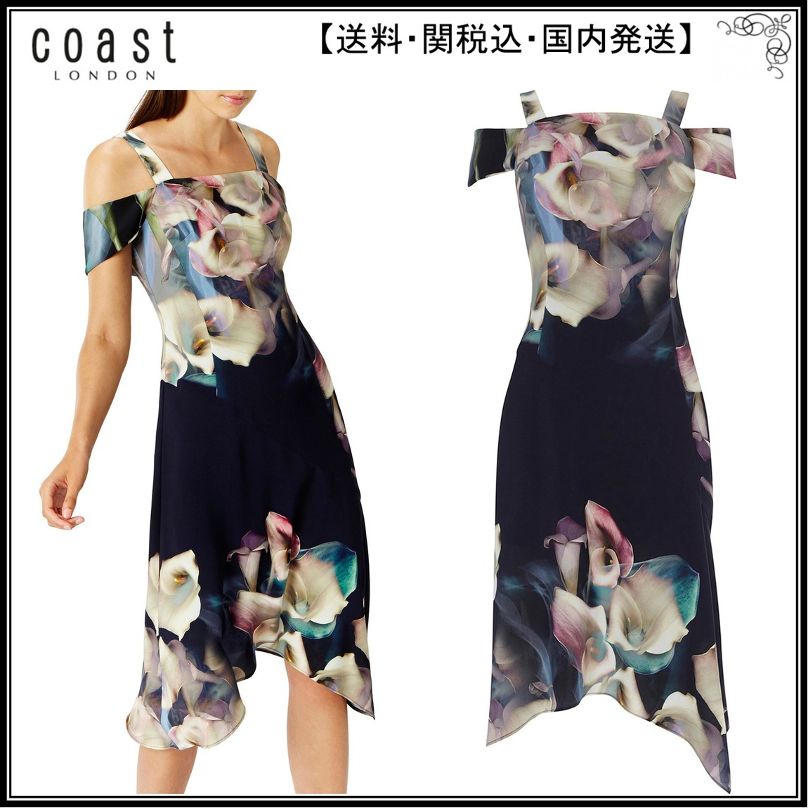 【海外限定】Coast人気ドレス☆Lily Print Soft Shift Dress