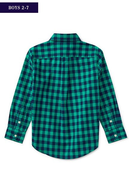 新作♪国内発送 CHECKED COTTON POPLIN SHIRT  boys 2~7