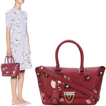 17-18AW V886 DEMILUNE SMALL DOUBLE HANDLE BAG