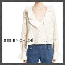See by Chloe◆ベルスリーブ◆2色◆Ruffle Lace Blouse