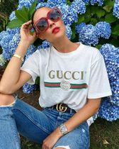MOST WANTED TEE★2017 GUCCI★Glitter Print Cotton T-Shirt