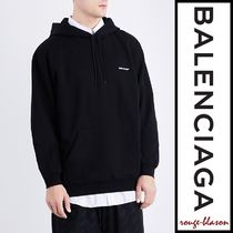 【国内発送】Balenciaga Logo-embroidered cotton-jersey hoody