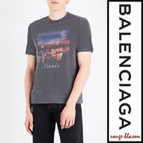 【国内発送】Balenciaga Paris At Night cotton-jersey T-shirt