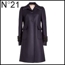 N21 numero ventuno★Embellished Wool Coat with Cashmere