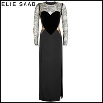 Elie Saab(エリーサーブ) ドレス-ロング Elie Saab★Floor-Length Gown with Velvet and Lace