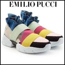 Emilio Pucci(エミリオプッチ)★Ruffle Sneakers with Suede