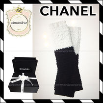 17AW【国内発送】CHANEL★ギフトに♪ バイカラー ロンググローブ
