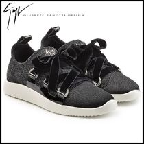 GIUSEPPE ZANOTTI★Fabric Sneakers with Velvet Laces