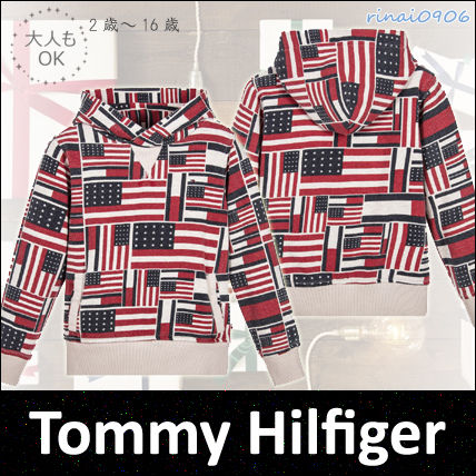 *Tommy Hilfiger*大人もOK☆フラッグプリントスウェット☆2-16Y