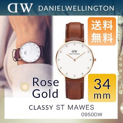 送料無料☆Daniel Wellington Rosegold 34mm 0950DW