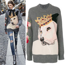 17-18AW DG1242 OVERSIZED CASHMERE BLEND SWEATER