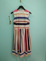 US4★在庫即発Kate spade★berber stripe fit and flare dress