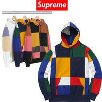 1 week FW17 (シュプリーム)  Patchwork Hooded Sweatshirt